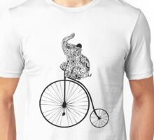 Elephant on bike Unisex T-Shirt