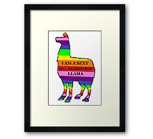 Sexy Multicoloured Llama Framed Print