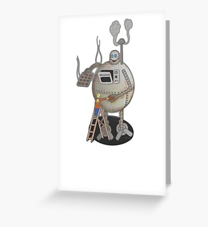 Asimo the cookie-bot Greeting Card