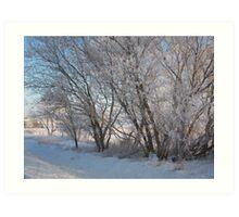 Frozen scenes Art Print