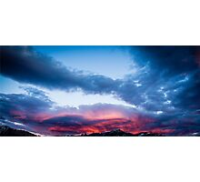 Fiery Clouds Photographic Print