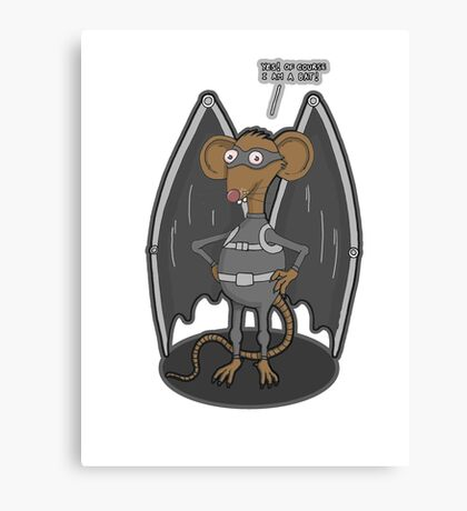 Yes, I am a bat ! Canvas Print