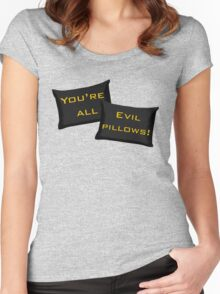 Evil Pillows! Women's Fitted Scoop T-Shirt