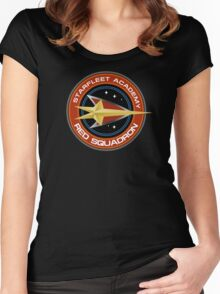 StarTrek - Red Squadron Women's Fitted Scoop T-Shirt