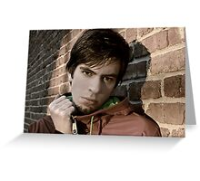 Guy shoot in New York Model Greeting Card