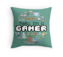 hello, I'm a gamer Throw Pillow