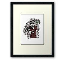 Zombi-oke Framed Print