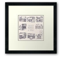 Vintage photo cameras Framed Print