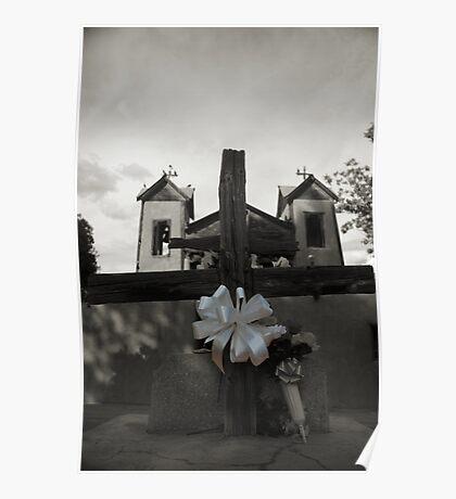 Kneeling at the Cross, Santuario de Chimayo Poster