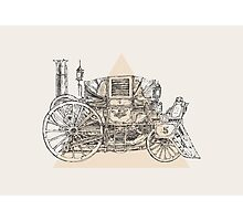 Steam punk carriage Photographic Print