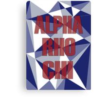 Geometric Alpha Rho Chi Canvas Print
