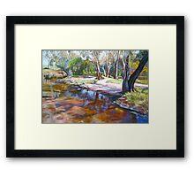 Creek Crossing, Avenel Framed Print
