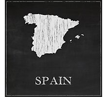 Spain Map Chalk Drawing Photographic Print