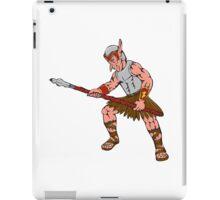 Orc Warrior Thrusting Spear Cartoon iPad Case/Skin