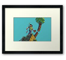 Minecraft Animation Tree Cutter Framed Print