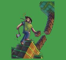 Minecraft Animation Tree Cutter Kids Tee