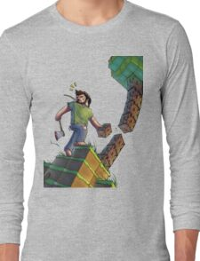 Minecraft Animation Tree Cutter Long Sleeve T-Shirt
