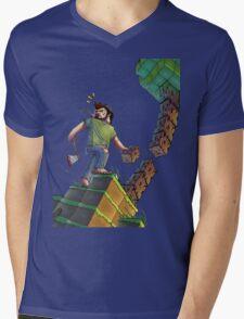 Minecraft Animation Tree Cutter Mens V-Neck T-Shirt