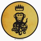 King Octochimp Says Hi by Octochimp Designs