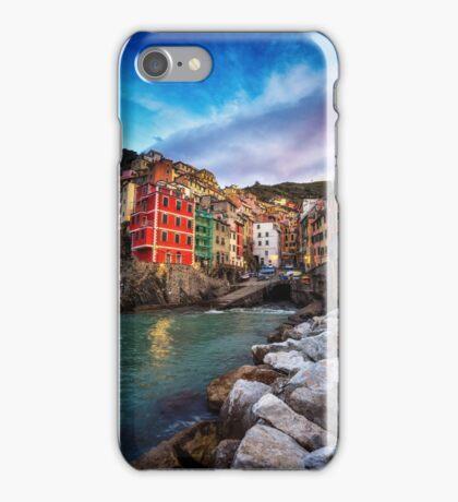 Sunrise over Riomaggiore iPhone Case/Skin