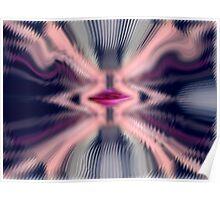 kiss through glass Poster
