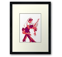 Strictly Salsa Couple Dancing With Glitter Ball Framed Print