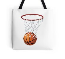 Basketball and Hoop Net Tote Bag