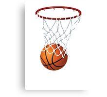 Basketball and Hoop Net Canvas Print