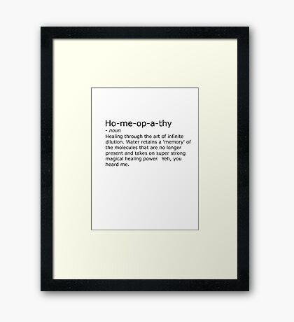 Homeopathy Framed Print