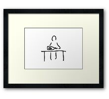 person with message in a bottle Framed Print