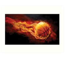 Fiery Basketball Art Print