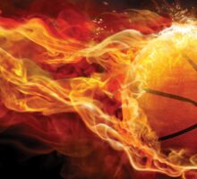 Fiery Basketball Sticker