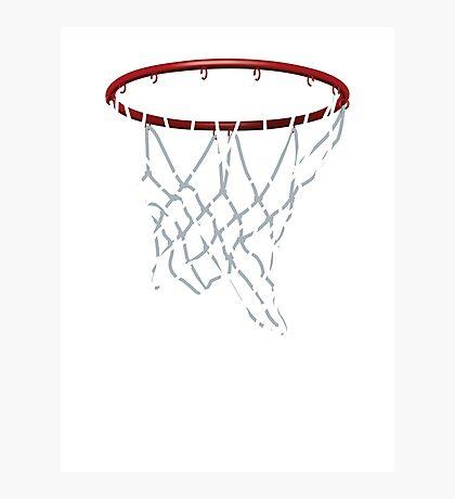 Basketball Hoop Net Photographic Print