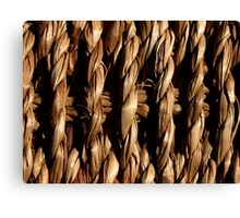 Grass Basket Canvas Print