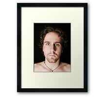 My curly hair, and a voting booth Framed Print