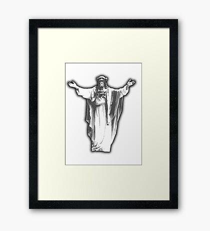 Jesus Chimp Framed Print