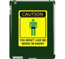 Don't Make Me Angry iPad Case/Skin