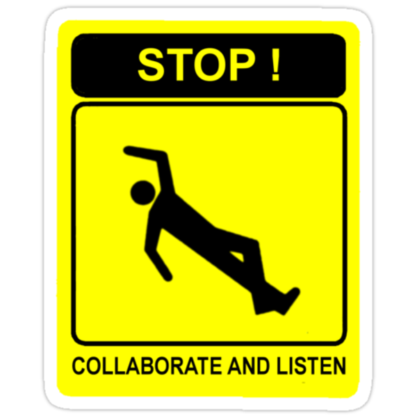 Collaborate and Listen by Octochimp Designs