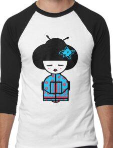 Cyan Chinese Men's Baseball ¾ T-Shirt
