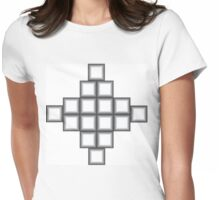 Metallic Keyboard Womens Fitted T-Shirt