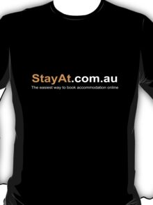 StayAt.com.au - Black T-Shirt