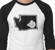 PNW:GB - Washington State (blk) Men's Baseball ¾ T-Shirt