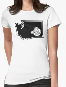 PNW:GB - Washington State (blk) Womens Fitted T-Shirt