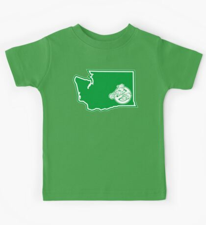 PNW:GB - Washington State (grn) Kids Tee