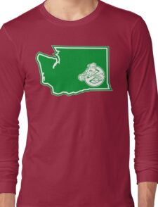 PNW:GB - Washington State (grn) Long Sleeve T-Shirt