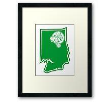 PNW:GB - Washington State (grn) Framed Print