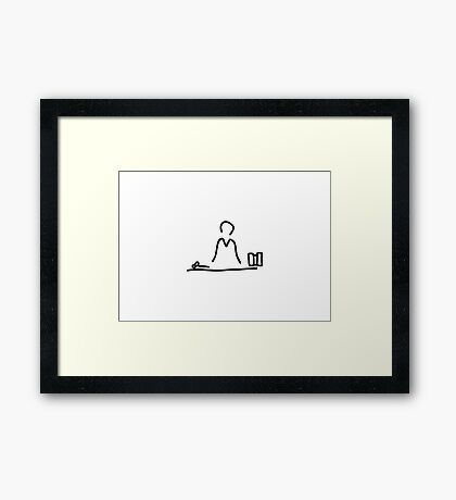judge with procedure and judgment Framed Print