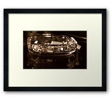 Filthy ashtray Framed Print