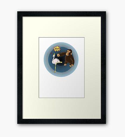 Crane Style Versus Monkey Fist Framed Print