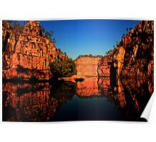 Reflections at Katherine Gorge Poster